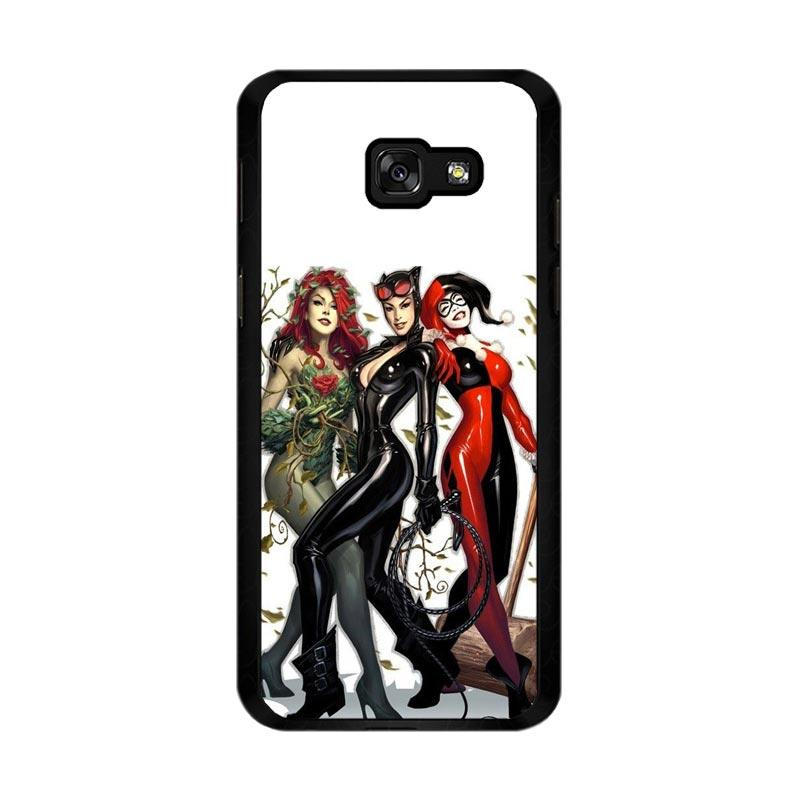 Flazzstore Poison Ivy Harley Quinn,Batgirl And Catwoman Z0225 Custom Casing for Samsung Galaxy A5 2017