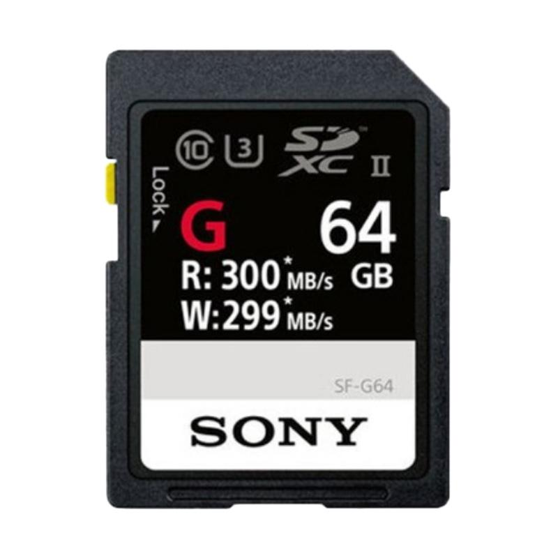 harga SONY SF-G SDXC Memory Card [Read Up to 300MB/S Write Up to 299MB/S C10, U3, UHS-II/ 64 GB] jpckemang Blibli.com