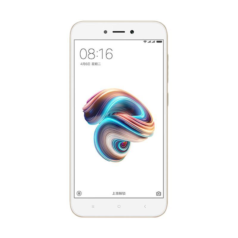 Harga Terbaru Xiaomi Redmi 5A Smartphone – Gold [2GB/16GB]