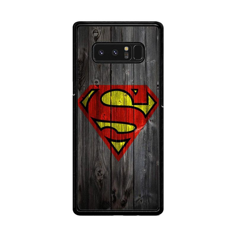 Flazzstore Wood Superman Logo 1215 F0249 Custom Casing for Samsung Galaxy Note8