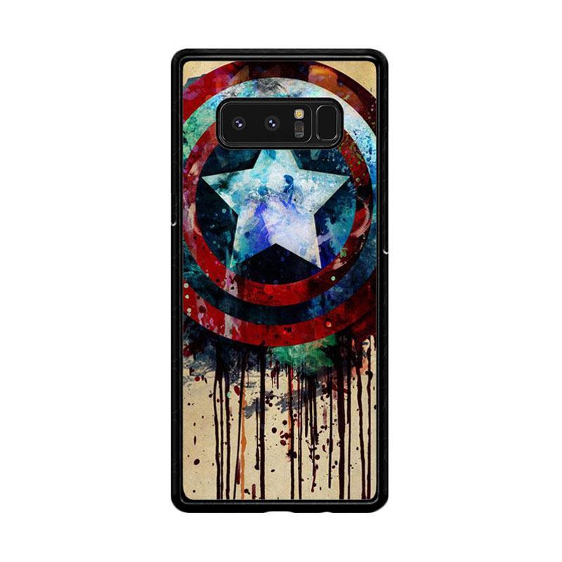 Flazzstore Captain America Shield Art F0155 Custom Casing for Samsung Galaxy Note8