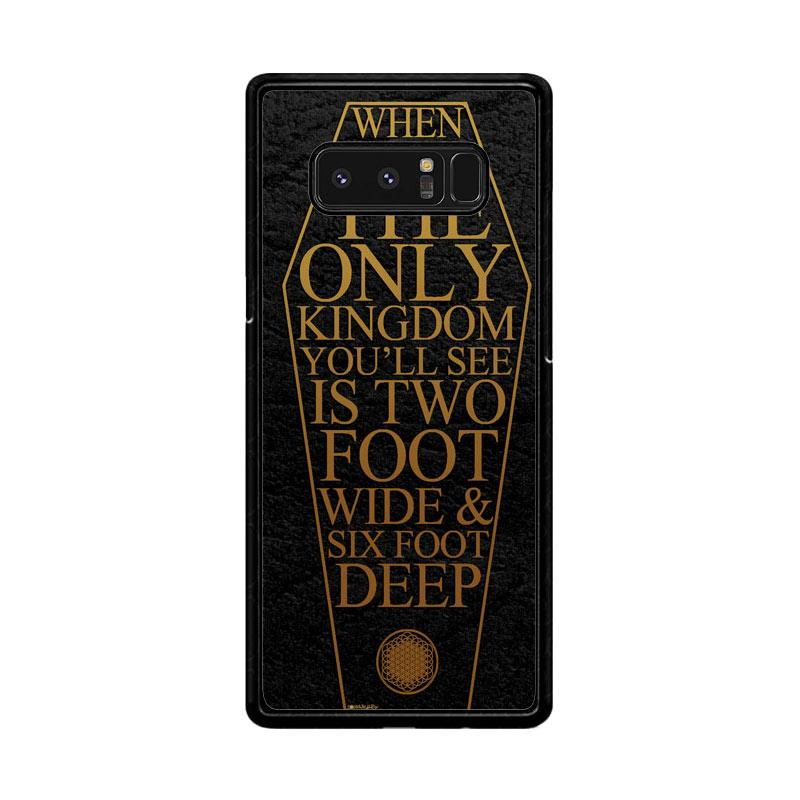 Flazzstore Bring Me The Horizon Coffin The House Of Wolves Quote F0353 Custom Casing for Samsung Galaxy Note8