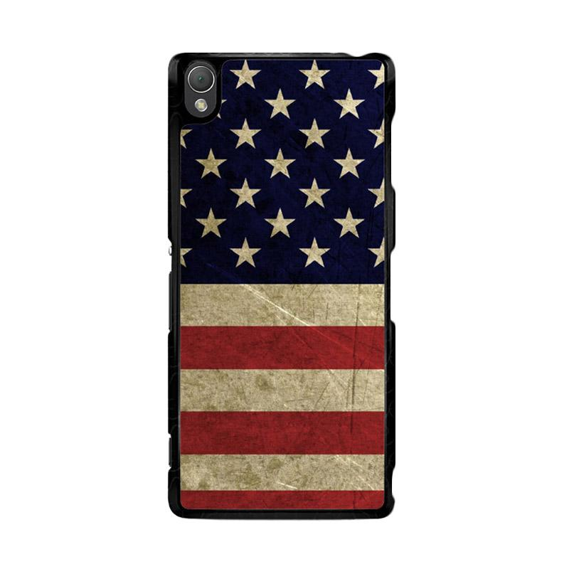 Flazzstore American Flag 3 O0232 Custom Casing for Sony Xperia Z3