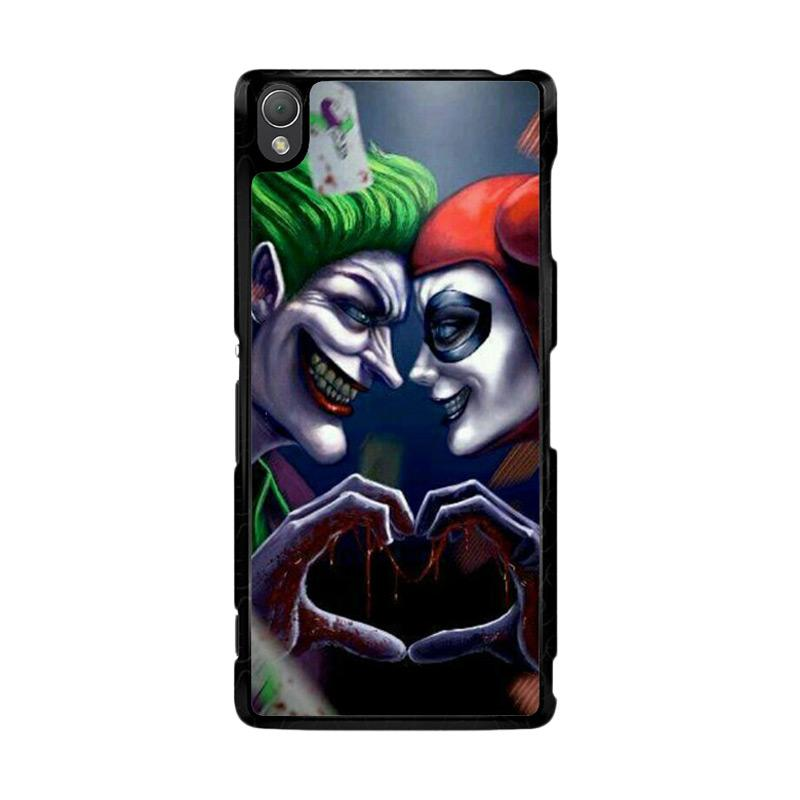 Flazzstore Harley Quinn And Joker Love F0447 Custom Casing for Sony Xperia Z3