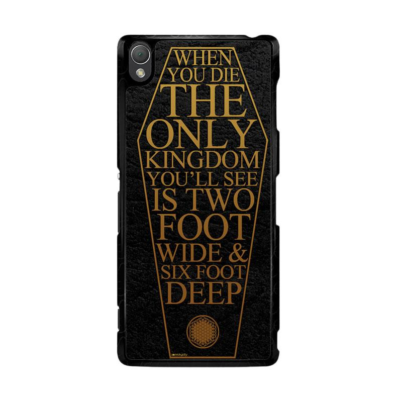 Flazzstore Bring Me The Horizon Coffin The House Of Wolves Quote F0353 Custom Casing for Sony Xperia Z3