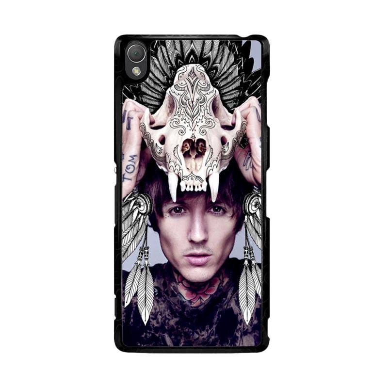 Flazzstore Oliver Sykes Skull Head Z0275 Custom Casing for Sony Xperia Z3