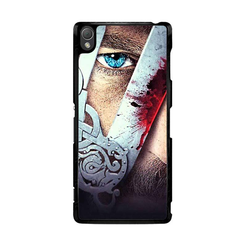 Flazzstore Vikings Tv Show Eyes Z0937 Custom Casing for Sony Xperia Z3
