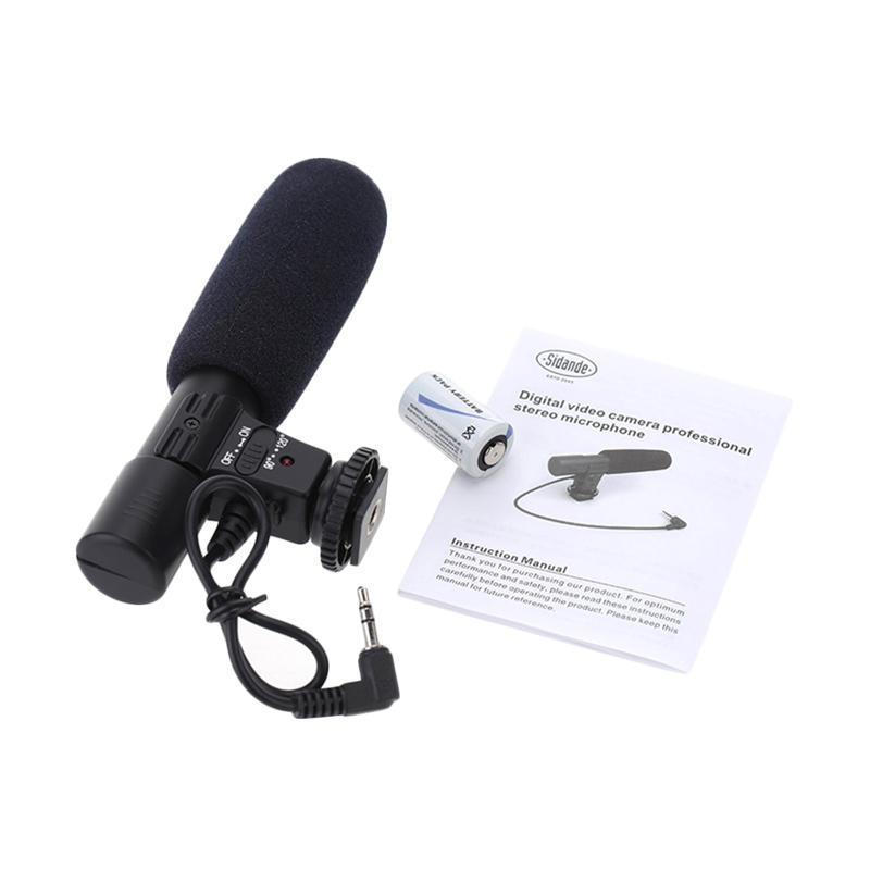harga Sidande MIC-01 Shotgun Microphone - Black Blibli.com