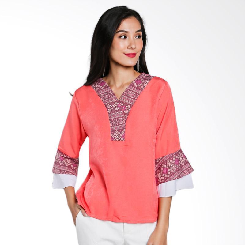 Jening Batik JW-023 Blouse Atasan Wanita - Orange