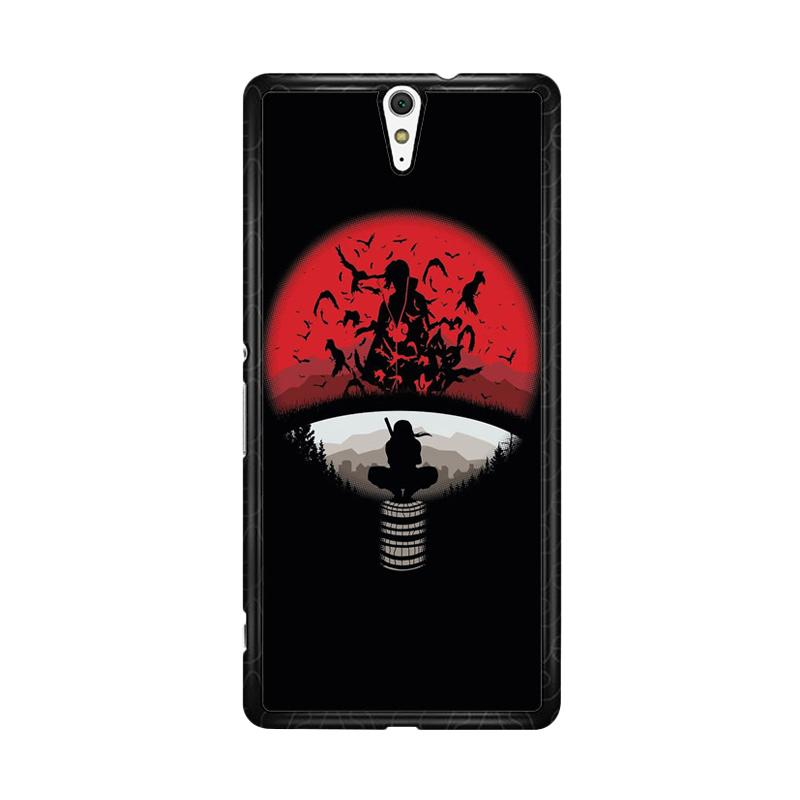 Flazzstore Uchiha Clan Symbol Mashup with Itachi O0420 Custom Casing for Sony Xperia C5 Ultra