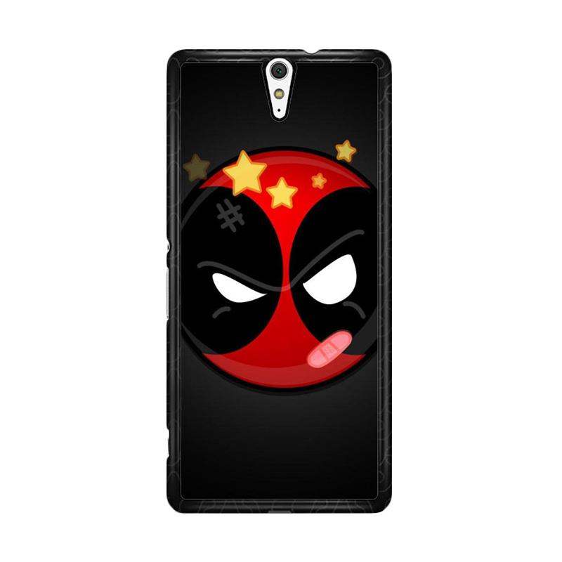Flazzstore Deadpool Superhero Logo Z0162 Custom Casing for Sony Xperia C5 Ultra
