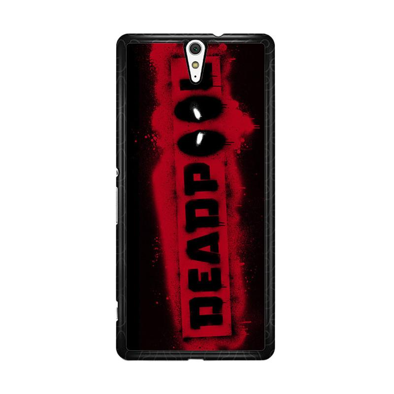 Flazzstore Deadpool Logo Brush Z1241 Custom Casing for Sony Xperia C5 Ultra