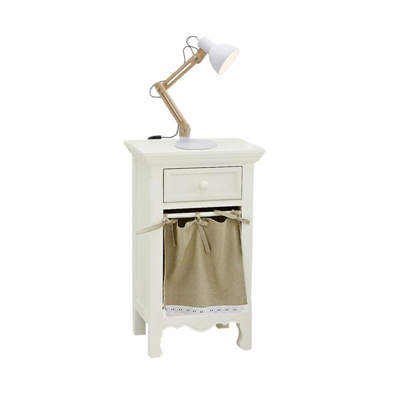 Livien Furniture French Series Meja Nakas - Ivory