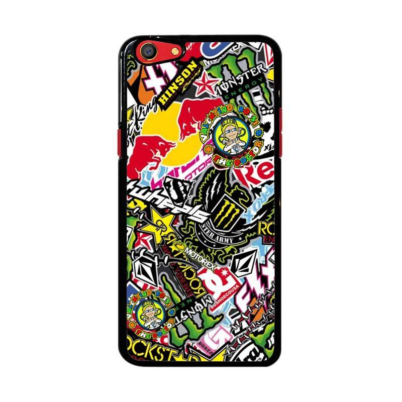 Flazzstore Sticker Bomb Z4015 Custom Casing for Oppo F3