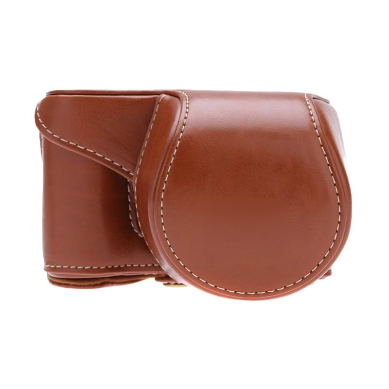 SONY Leather Tas Kamera for SONY Alpha A5000 or A5100 - Coklat Muda