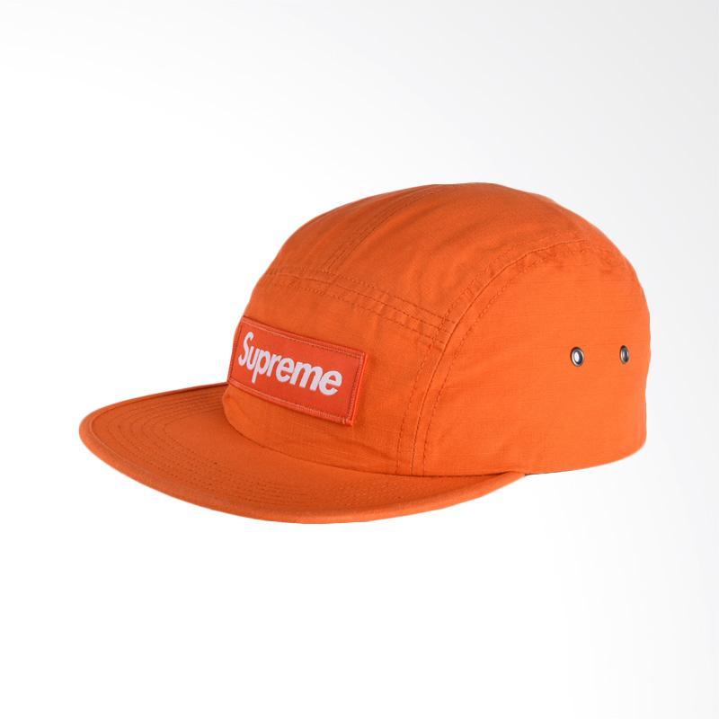 Supreme New York Metal Ring Camp Cap Topi Pria – Orange