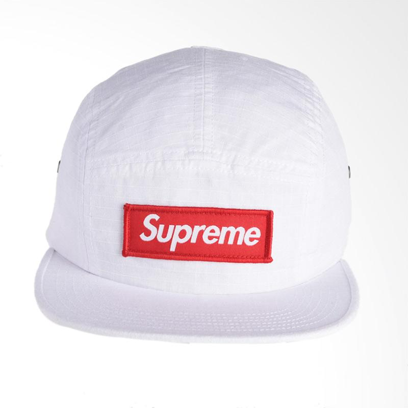 Supreme New York Metal Ring Camp Cap Topi - White