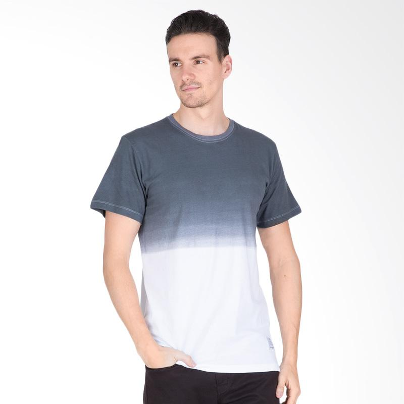 Tendencies Dip Dye T-Shirt Pria - Grey White