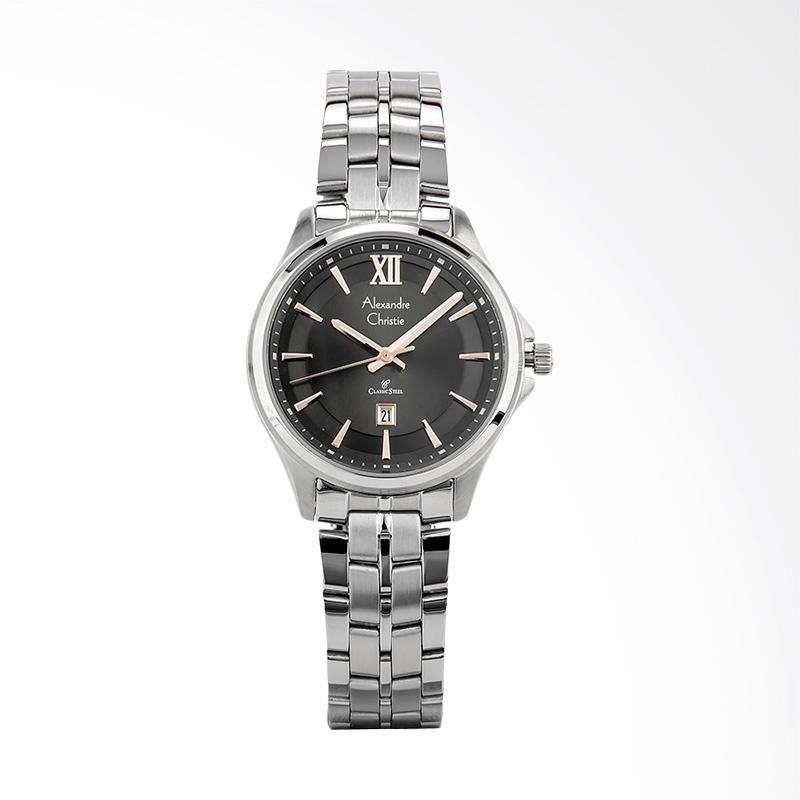 Alexandre Christie Classic Ladies AC 8530 LD BSSBA Jam Tangan Wanita - Silver Black