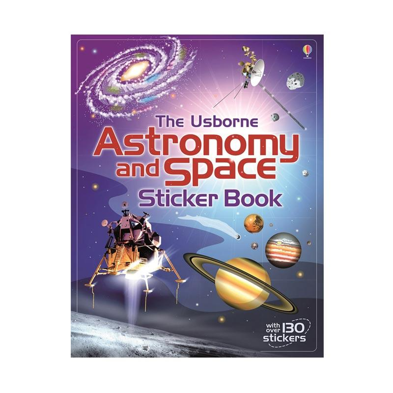 Genius The Usborne Astronomy and Space Sticker Book with Over 130 Stickers Buku Anak