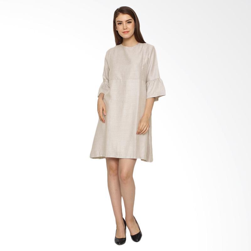 harga Just Mom Raisa Khaki RS104 Dress Menyusui Blibli.com