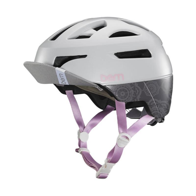 harga Bern Parker Helmet Helm Sepeda Wanita - Satin Light Grey Blibli.com