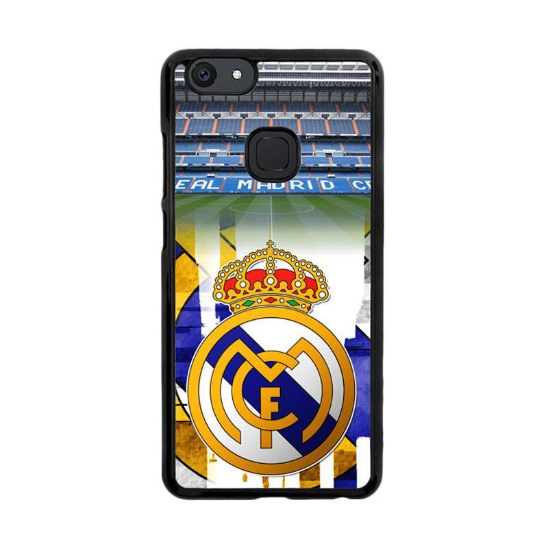 Flazzstore Real Madrid Logo Wallpaper X3102 Custom Casing for Vivo V7