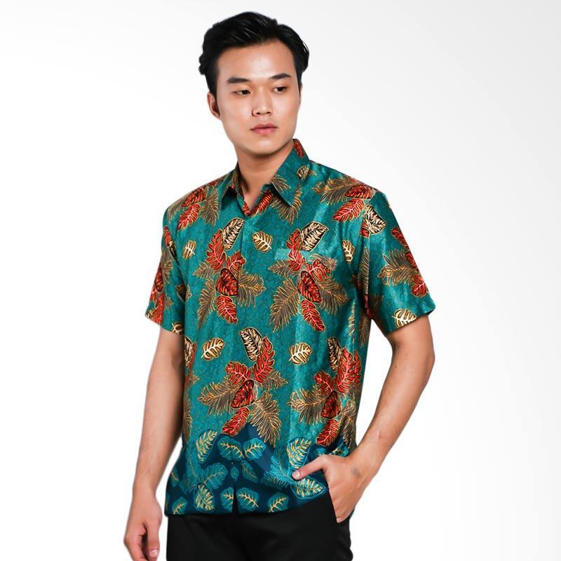 Blitique Abimayu Mengunir Kemeja Batik Pria - Hijau Toska