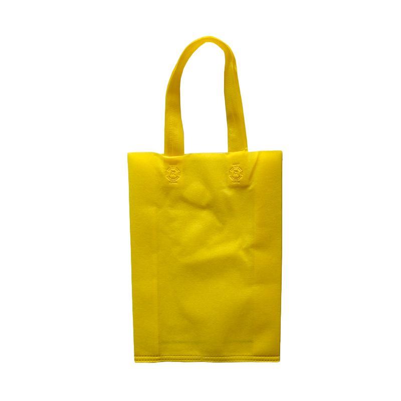 HBS Spunbond Polos Tas Kain Goodie Bag - Kuning [30 x 40 x 9 cm]