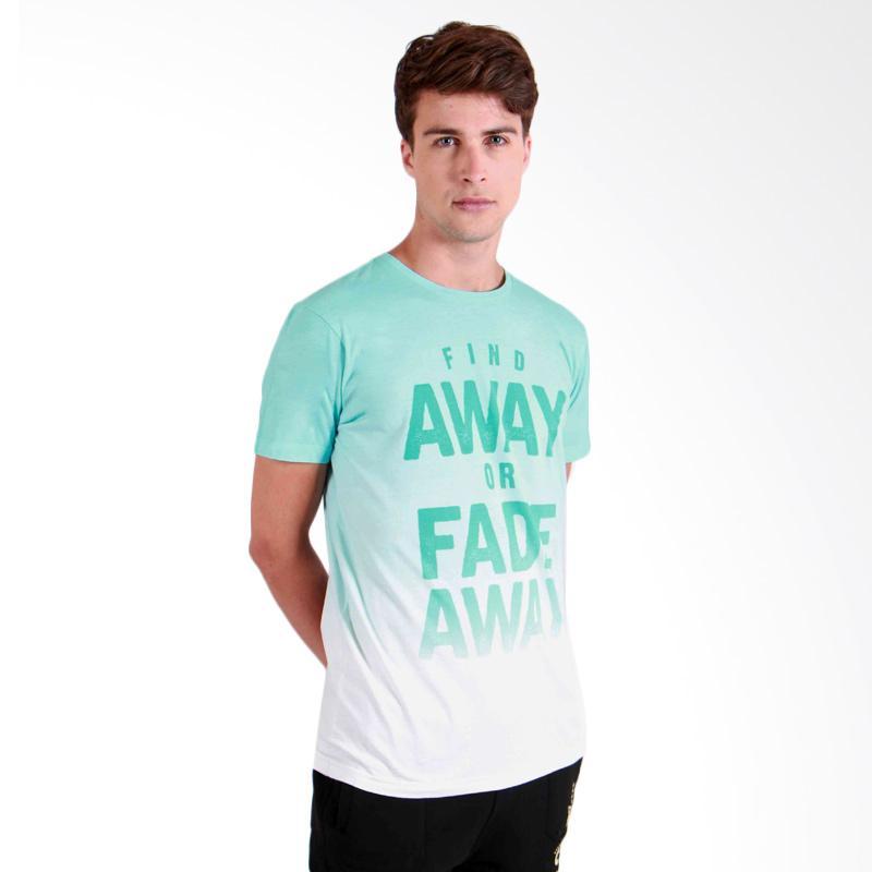 180 Degrees Fade Away T-Shirt Pria - Hijau