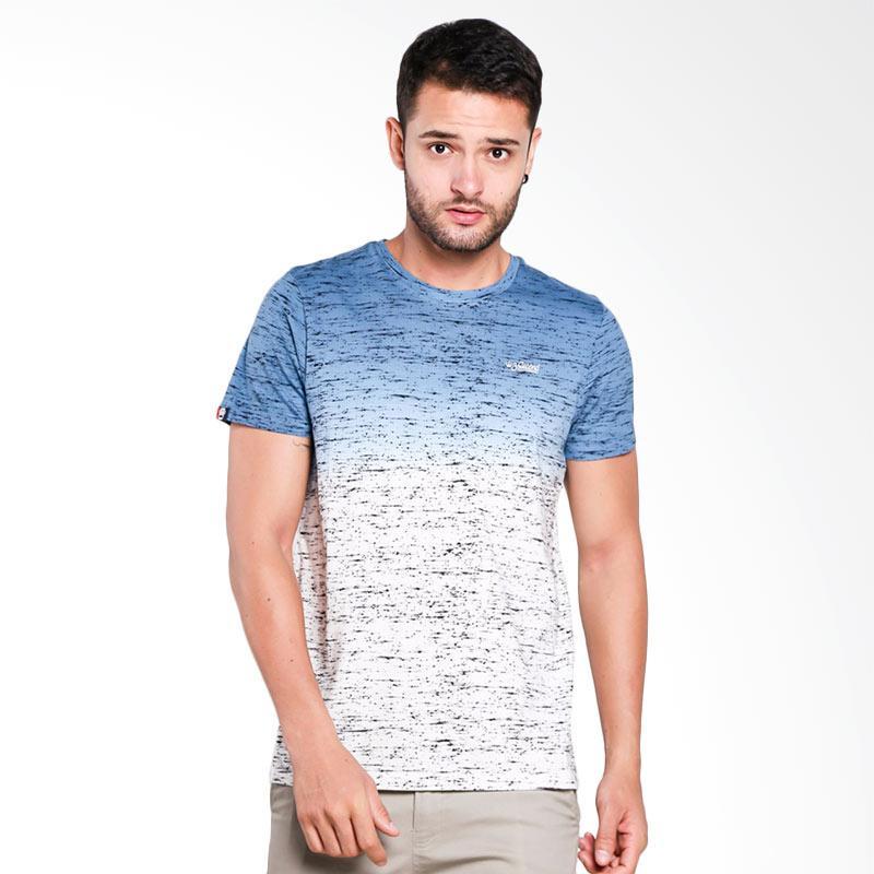 3SECOND 1210 T-Shirt Pria - Blue