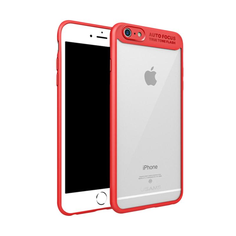 harga Usams Autofocus Transparan Karet PC Casing for iPhone 5/ 5S/ 5SE - Merah Blibli.com