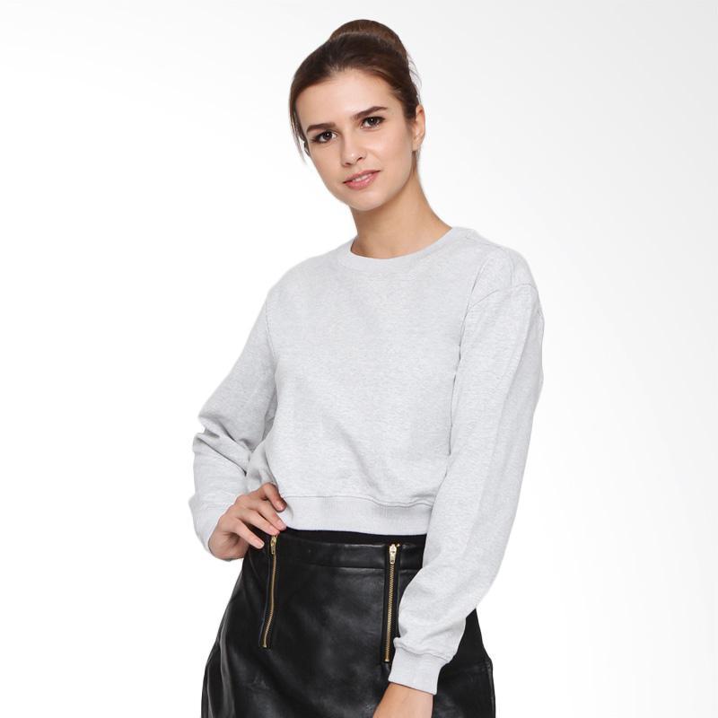 Heart and Feel 1264.B Cotton Sweatshirt Wanita - Grey