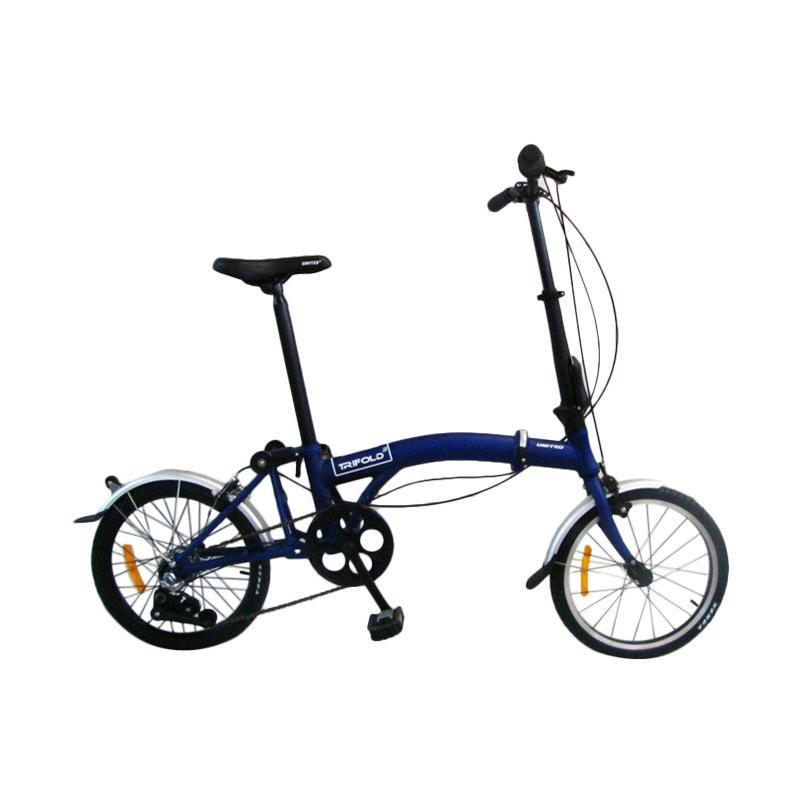 Jual United Trifold 3 Sepeda Lipat Blue 16 Inch Online November 2020 Blibli Com