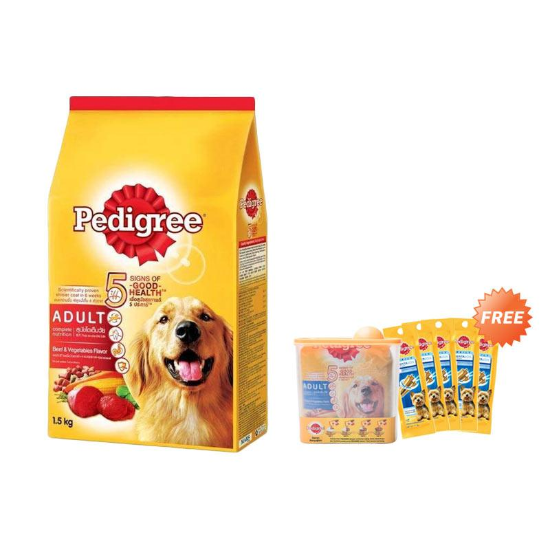 ... Pcs Free Pedigree Dentastix Source · Cesar Chicken 100gr 2. Source · Ulasan Terbaru CNY Special Pedigree Beef & Vegetables Makanan Anjing [1500 g] + ...