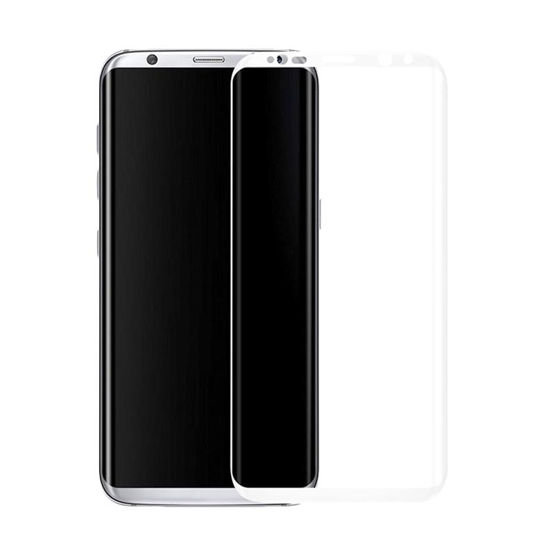 3T Tempered Glass Screen Protector for Samsung Galaxy S8 - White [Full Cover]