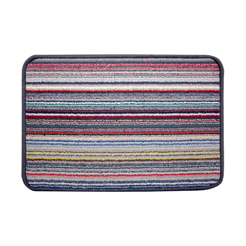 harga Classic Carpets Stripped Anti Slip Keset - Grey 02 [40 x 60 cm] Blibli.com