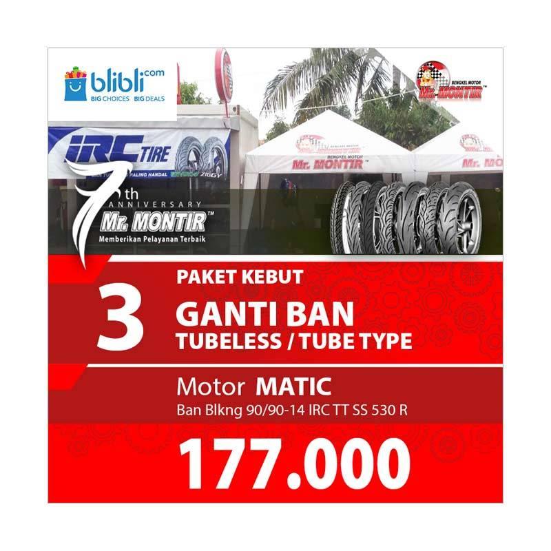 harga Mr. MONTIR Paket Kebut Motor Matic Ganti Ban IRC TT SS 530R 90-90-14 [Pasang Di Toko] Blibli.com