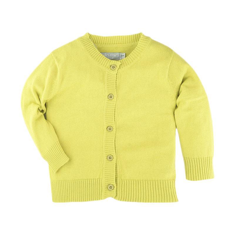 Hello Mici Knitwear Baby Basic Cardigan - Yellow