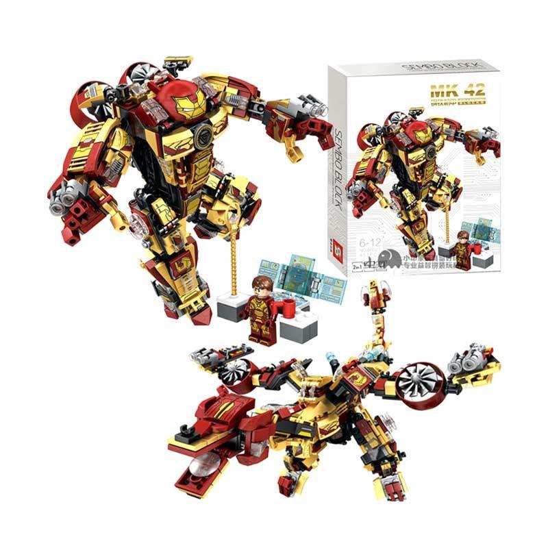 Sembo Block 60021 2in1 Robot MK42 Ironman Mini Blocks