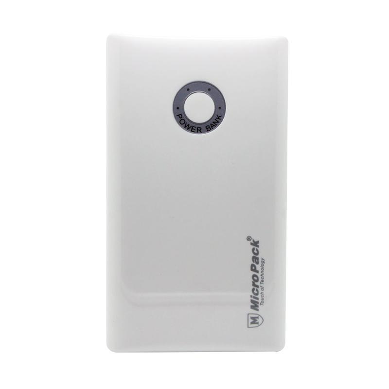 MicroPack P9000U Powerbank - White [9000 mAh/ Micro USB/ Lightning]