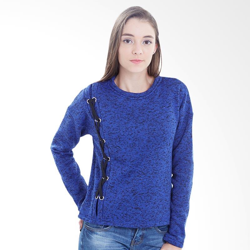 Boontie Corrint Two Tone Sweater Wanita - Blue