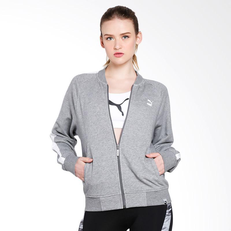 PUMA Women Classics Logo T7 Track Jacket Wanita Grey 575071 03