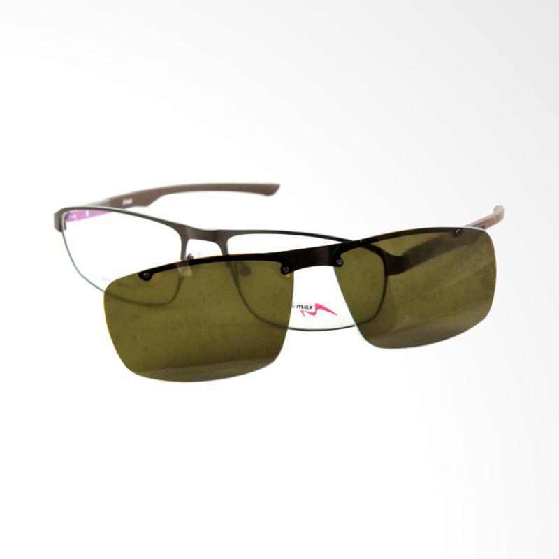 Imax Sporty Clip On Frame Kacamata Pria - Brown [8227]