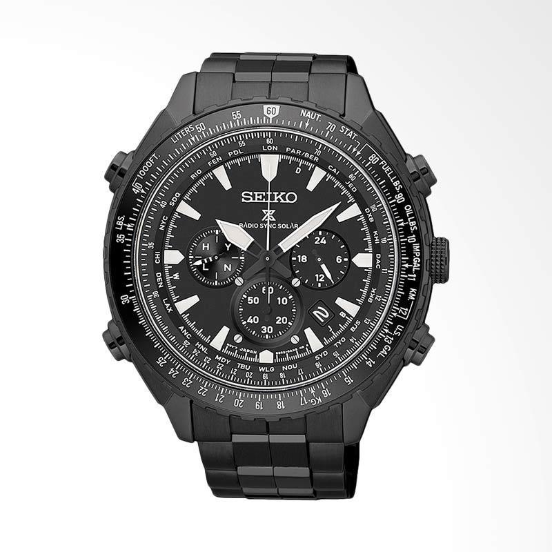 harga Seiko Prospex Sky Radio Sync Solar World Time Chronograph Jam Tangan Pria - Black [SSG003P1] Blibli.com