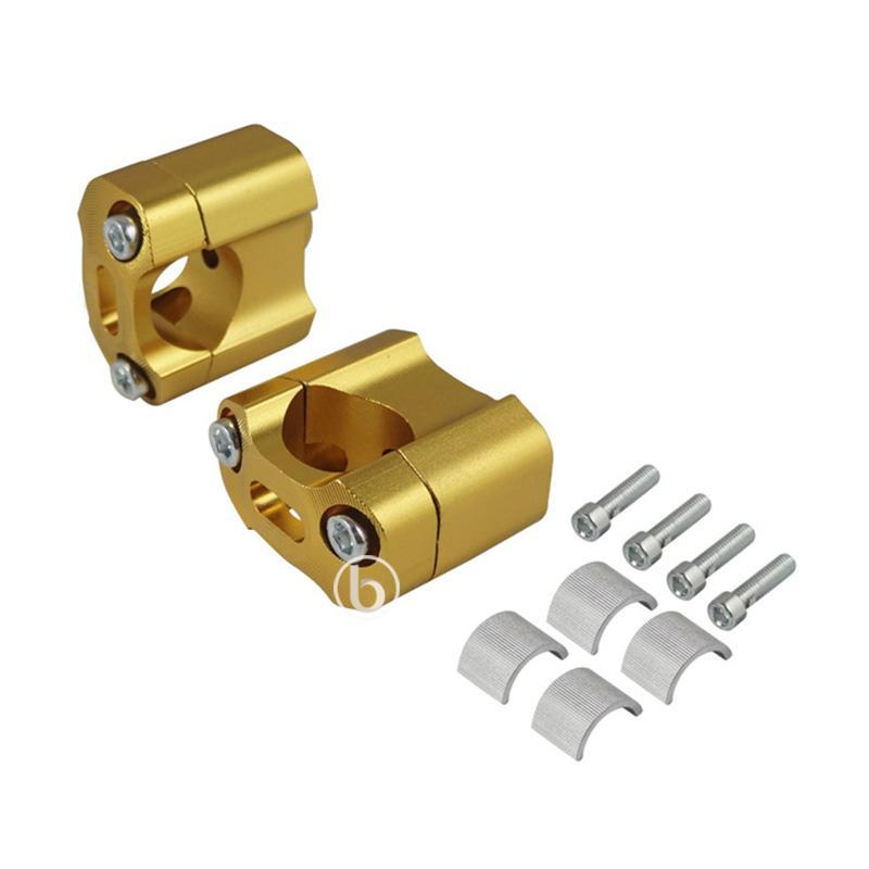 harga CNC Multi Raiser Dudukan Peninggi Stang Motor for Yamaha New Vixion - Gold [22 mm dan 28 mm] Blibli.com