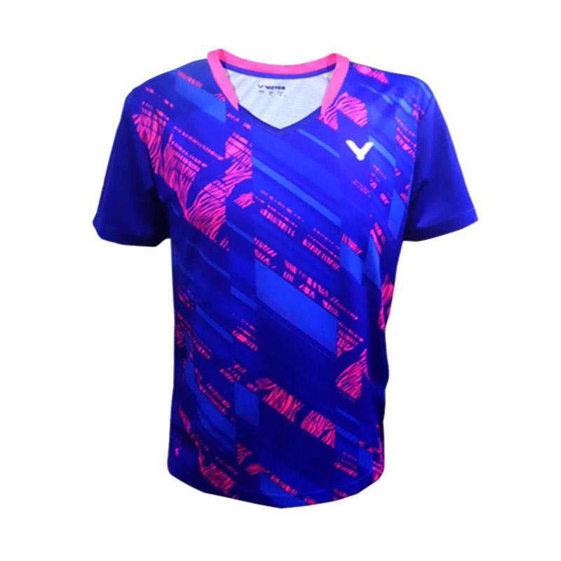 Victor T Shirt Victor Baju Badminton Pria Royal Blue