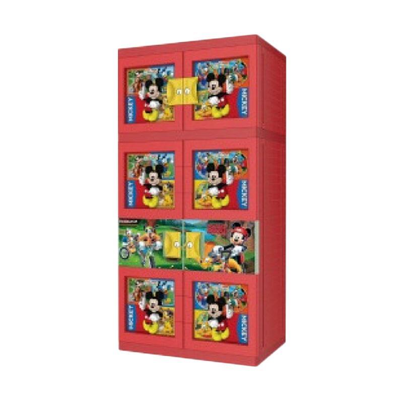 harga Naiba 3D Mickey Mouse Plastik Lemari Gantung - Merah Blibli.com