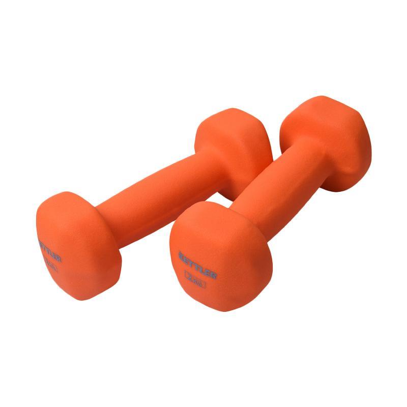 harga Kettler Neoprene Dumbell Peralatan Fitnes - Orange [701-010/ 4 kg per Pair] Blibli.com