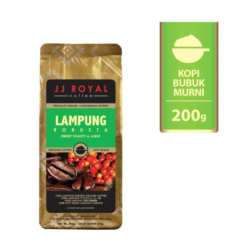 harga Groceries - WHS - JJ Royal Lampung Robusta Ground Bag Bubuk Kopi [200 g] Blibli.com